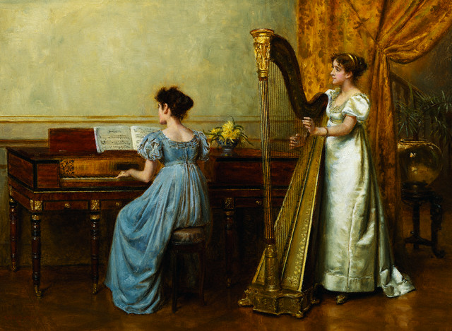 George Goodwin Kilburne (1839 - 1924) - The Duet