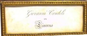 Giovanni Crudeli c. 1830 - Nameboard - Eric Feller Collection