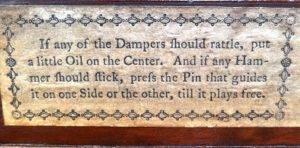 Johannes Broadwood 1790 Instructions - Eric Feller Collection