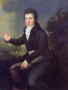 Ludwig van Beethoven (1804-1805) von Willibrord Joseph Mähler (1778 - 1860) - Beethoven Pasqualatihaus Museum Wien