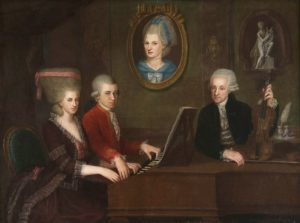 Mozart Family - Johann Nepomuk della Croce, c. 1780 - Eric Feller Collection