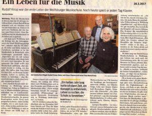 Rudolf Knop - Zeitungsartikel