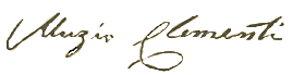Signature Muzio Clementi (1752 - 1832) - Eric Feller Collection